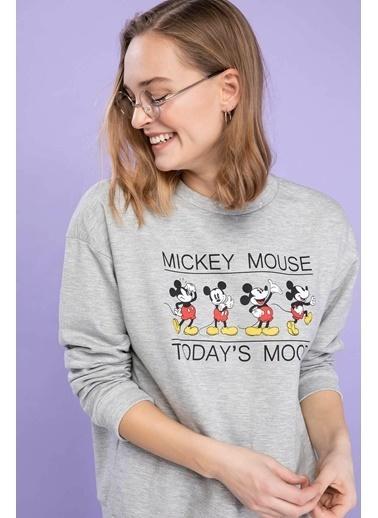 DeFacto Snoopy Baskılı Lisanslı Sweatshirt Gri